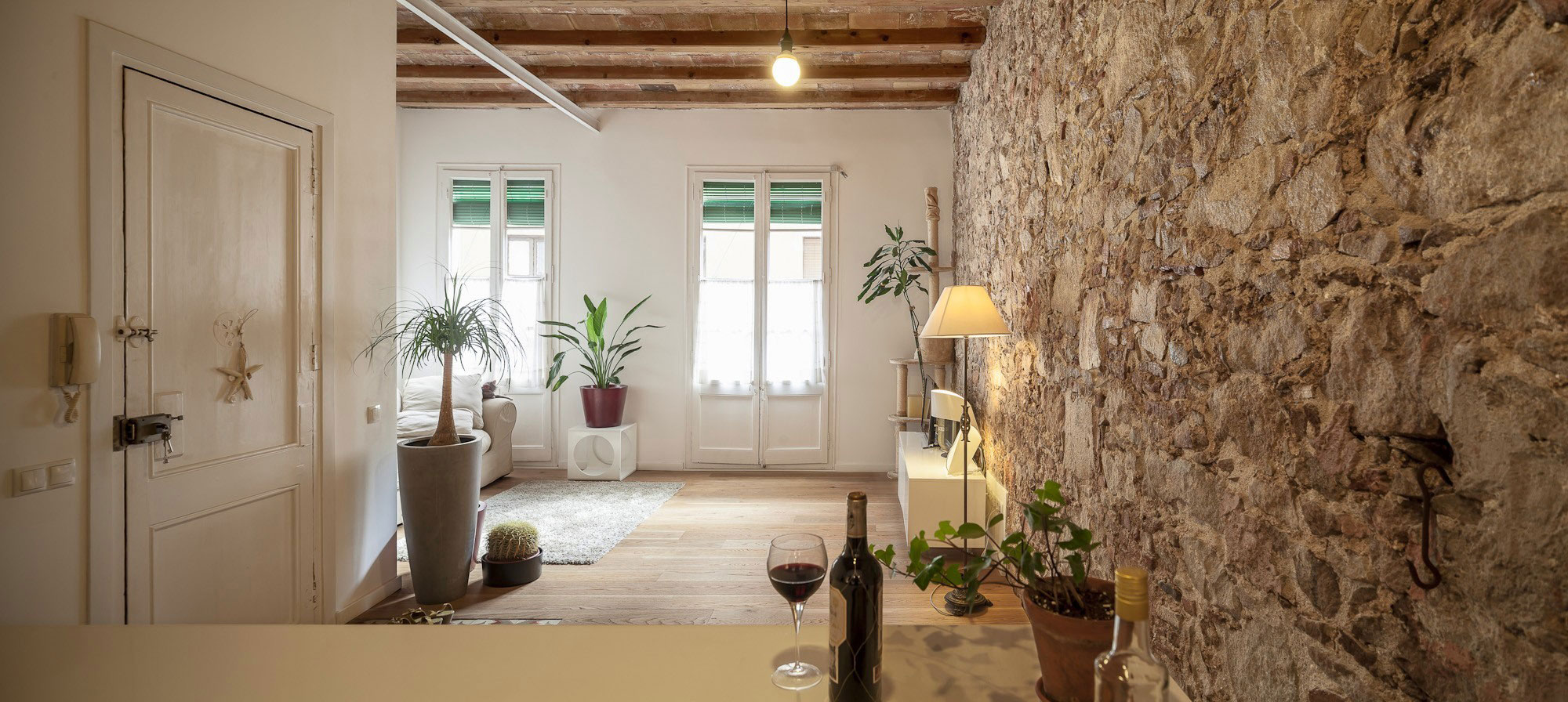 Renovation-Apartment-in-Les-Corts-living-room-windows