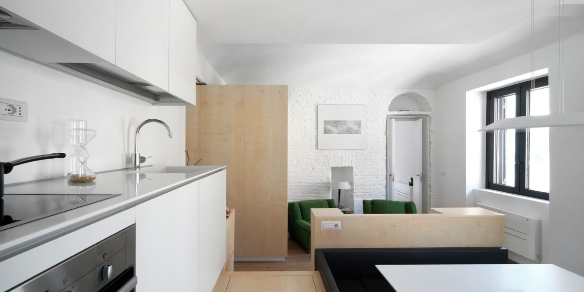 Turin apartment renovation kitchen design