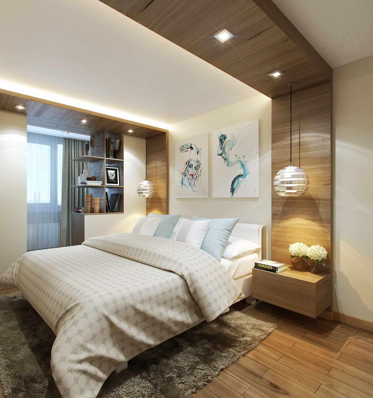 красивый потолки в узких спальнях фото можно сделать