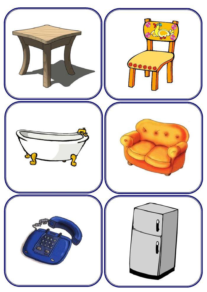 Картинки мебель для детей карточки