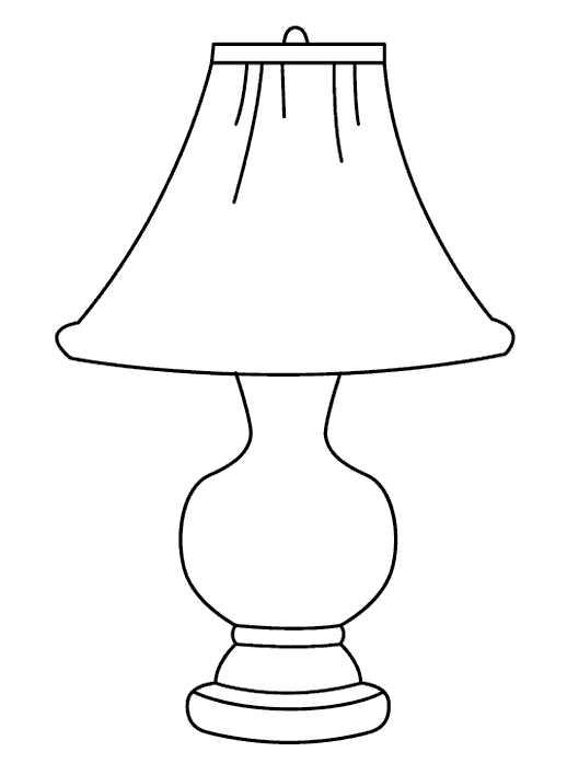 Рисунок настольной лампы карандашом